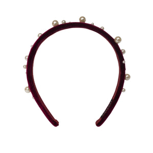 Pearl on Mahogany Headband