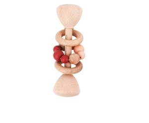 Beech Wood Baby Teething Rattle