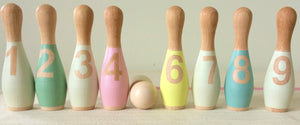 Load image into Gallery viewer, Handmade Baby Bowling Set