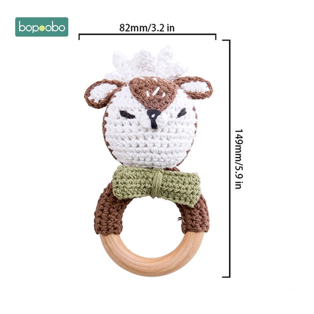 Crochet Rattle Teether