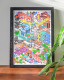 West London Isometric City Map (A3 & A2 sizes)