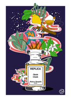 A3 Replica Jazz Club Parfum Bottle Print (Medium)