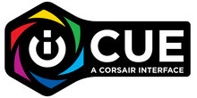 Load image into Gallery viewer, Corsair iCUE Logo Sticker / Cling / Magnet