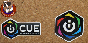 Corsair iCUE Logo Sticker / Cling / Magnet