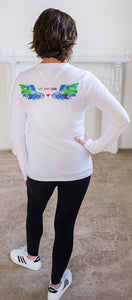 Lolly Dagger Multi-Colored Wings White Long Sleeve Model