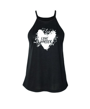 Lolly Dagger White Heart Black High Neck Tank Top Front