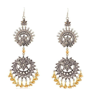 Double Cutwork Ghungroo Earrings