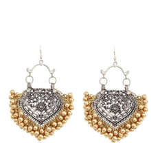 Load image into Gallery viewer, Paan & Gold Ghungroo Earrings