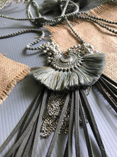 Load image into Gallery viewer, Baby Crescent Necklace with Fringe