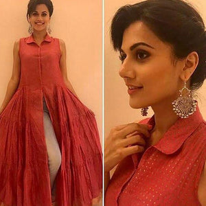 Tapsee Pannu in Small Ghungroo Earrings