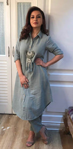 Tisca Chopra in our Teal Fringe