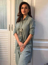 Load image into Gallery viewer, Tisca Chopra in our Teal Fringe
