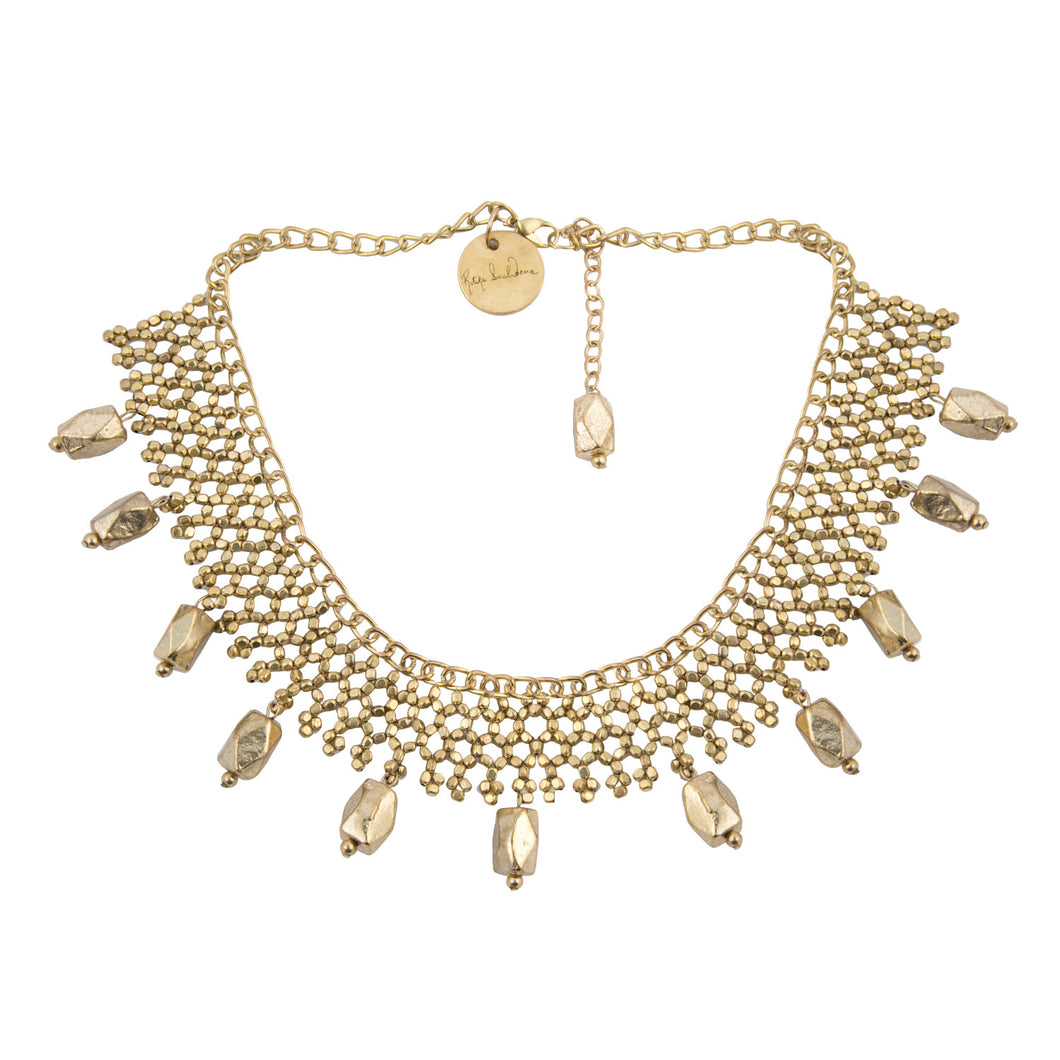 Gold Jaal Bead Necklace
