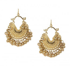Baby Crescent Gold Earrings