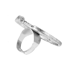 Half Moon Silver Chand Ring