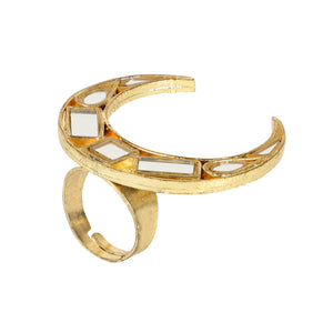 Gold Chand Tukda Ring