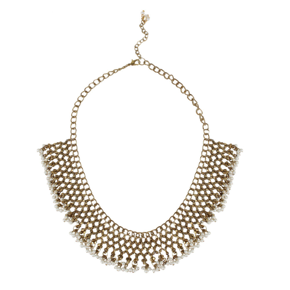 Jaal and Pearl Necklace