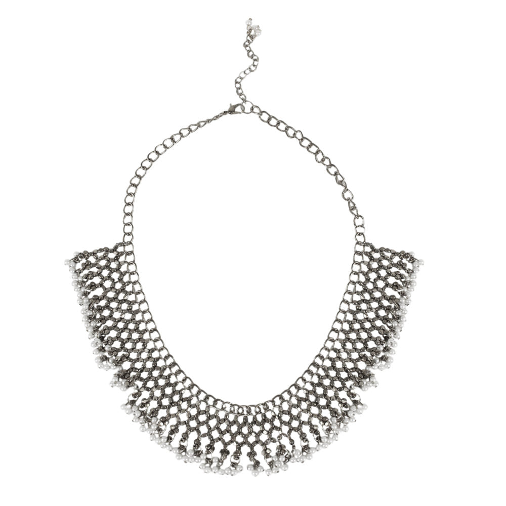 Silver Jaal Necklace