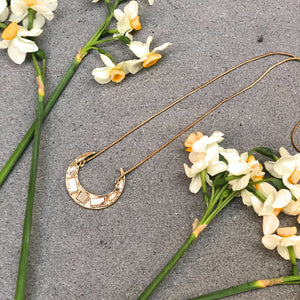 Gold Small Moon Necklace