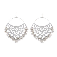 Load image into Gallery viewer, Silver Filigree Cutwork Earrings
