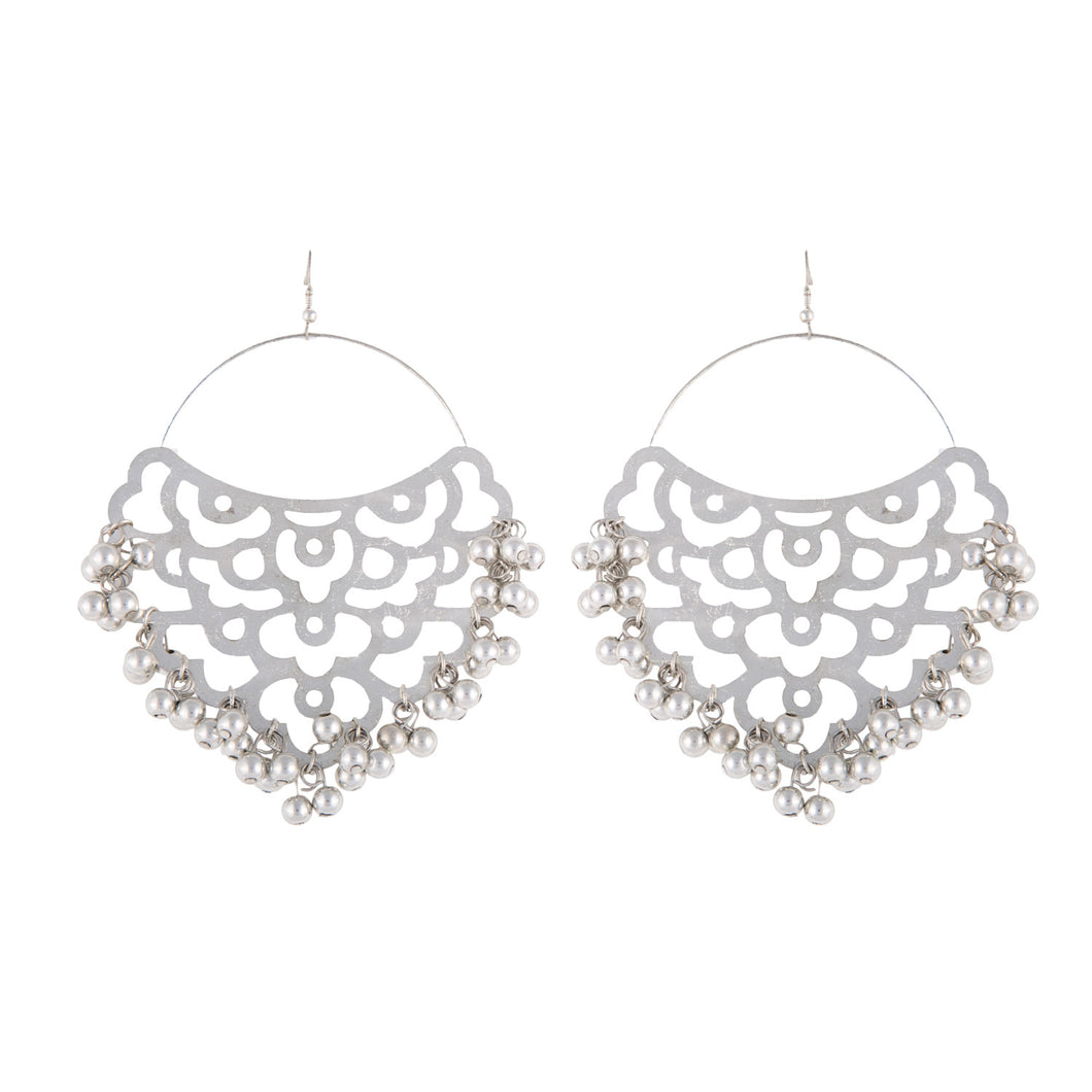 Silver Filigree Cutwork Earrings