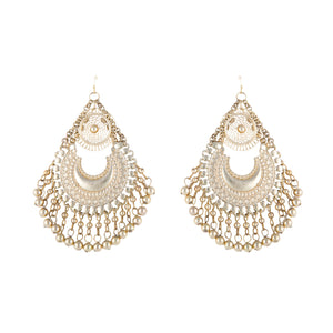 Crescent Filigree Gold Earrings