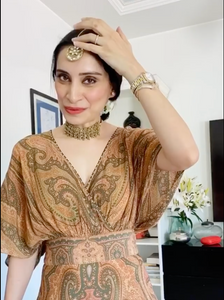 Amrita Thakur in our Gold Fringe Necklace