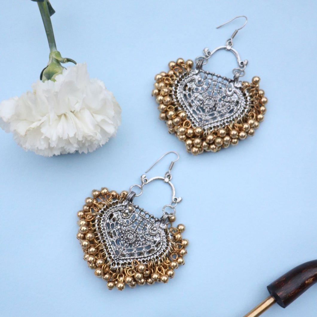 Paan & Gold Ghungroo Earrings