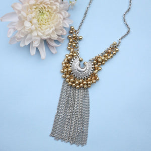 Small Crescent Ghungroo Fringe Necklace