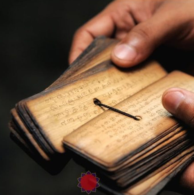 a small wooden book