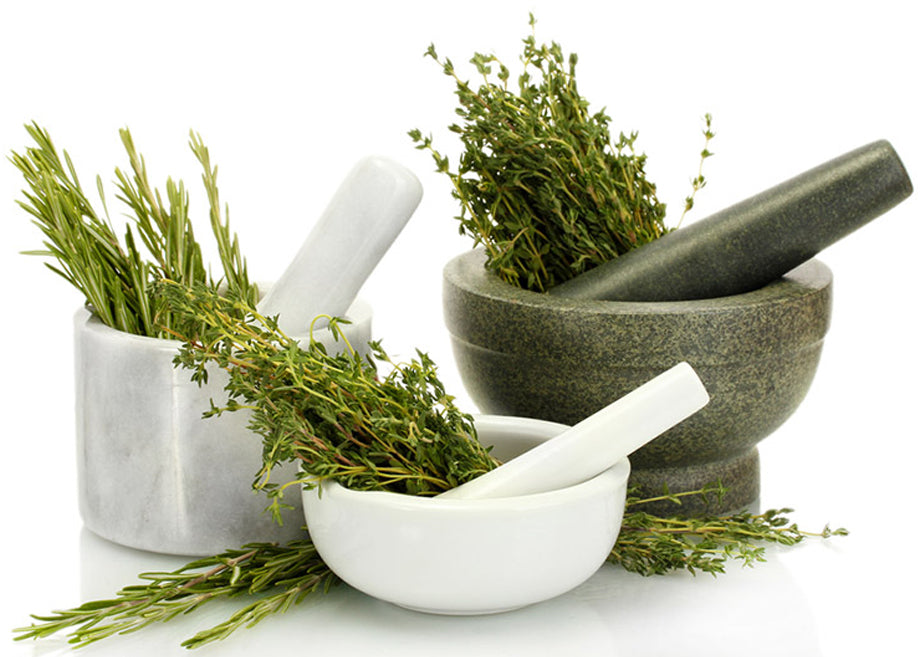 Rosemary in the hand grinder