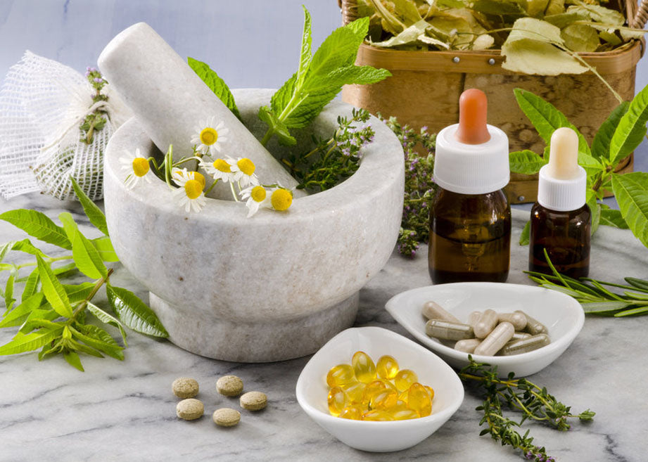 Herbs tablets & essential oils