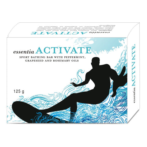 essentia ACTIVATE BATH BAR | Pure Essential Oils of Peppermint, Grapeseed, Rosemary, Natural Moisturisers | 125 gm X 2 Soaps