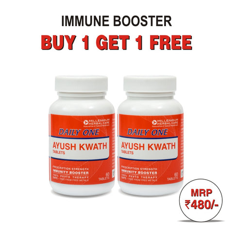AYUSH KWATH - Buy 1 Get 1 Free Offer | 100% Ayurvedic Natural Immunity Booster | 120 Tablets