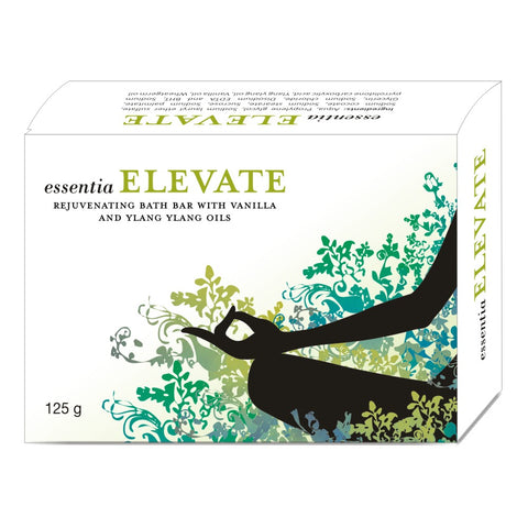 essentia ELEVATE BATH BAR | Essential Oils of Vanilla & Ylang Ylang & Moisturisers to Keep Skin Soft & Supple | 125 gm X 2 Soaps