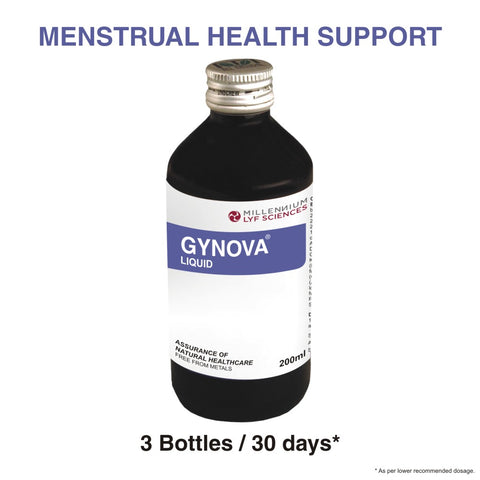 GYNOVA LIQUID | Clinically Proven Remedy for Menstrual Disorders & Infertility | 200 ml X 3 Bottles