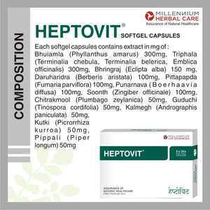 HEPTOVIT SGC | Powerful & Proven Herbal Remedy to Restore Liver Functions | 120 Capsules
