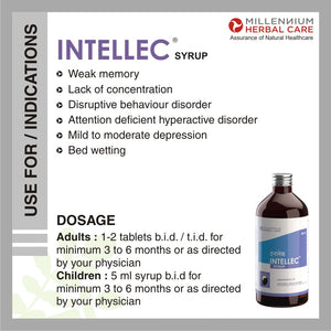 Dosage & instructions of INTELLEC SYRUP