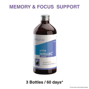 INTELLEC SYRUP | Natural & Gentle Nootropic & Cognitive Activator to Support Brain Function
