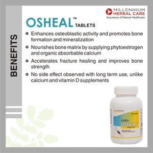 OSHEAL TABLETS | Ayurvedic Medicine / Herbal Supplement best Vegetarian Alternative to Calcium for Osteoporosis Control and Strong Bones | 120 Tablets