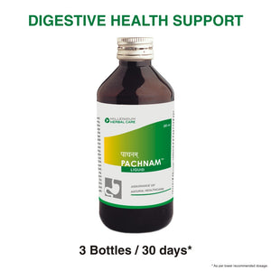 PACHNAM LIQUID | An Effective, Non-habit Forming Natural Digestant & Potent Appetizer | 200 ml X 3 Bottles