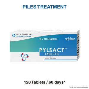 PYLSACT TABLETS | Safe & Effective Treatment For Haemorrhoids, Piles & Fistula-in-ano | 120 Tablets