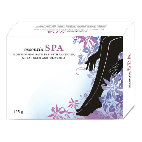 essentia SPA BATH BAR | Pure Essential Oils of Lavender, Wheat germ, Olive, Natural Moisturisers | 125 gm X 2 Soaps