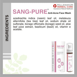 What is SANG-PURE ANTI ACNE FACE WASH made of?