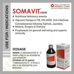 Dosage & instructions of SOMAVIT LIQUID