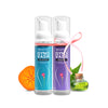 GYNOVASH ACTIVE KIT | 100% Natural Intimate Foam Cleanser | 1 Active Movers (70 ml) + 1 Passionate Moments (70 ml)