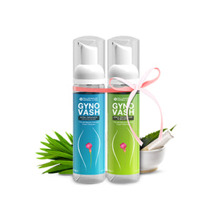 GYNOVASH STARTER KIT | 100% Natural Intimate Foam Cleanser | 1 Extra Freshness (70 ml) + 1 Daily Protection (70 ml)