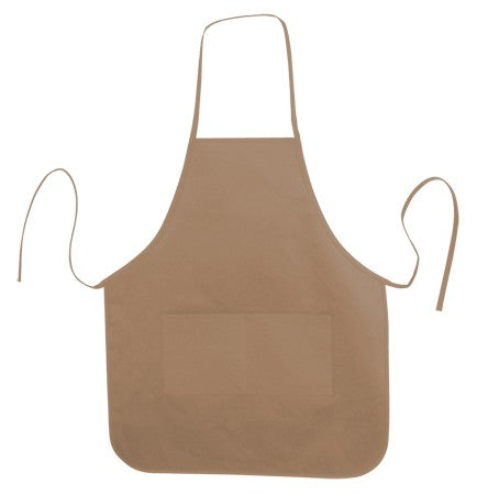 Heather Round Bottom Twill Apron