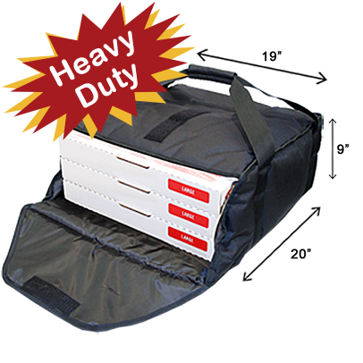 Industry Standard Thermal Pizza Bag-Black