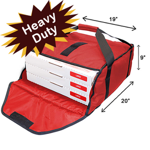 Industry Standard Thermal Pizza Bag-Red